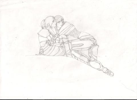 Desenho original, antes de colorir